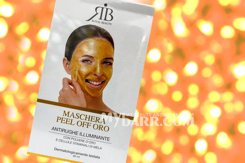 maschera oro royal beauty peel off antirughe illuminante mybarr
