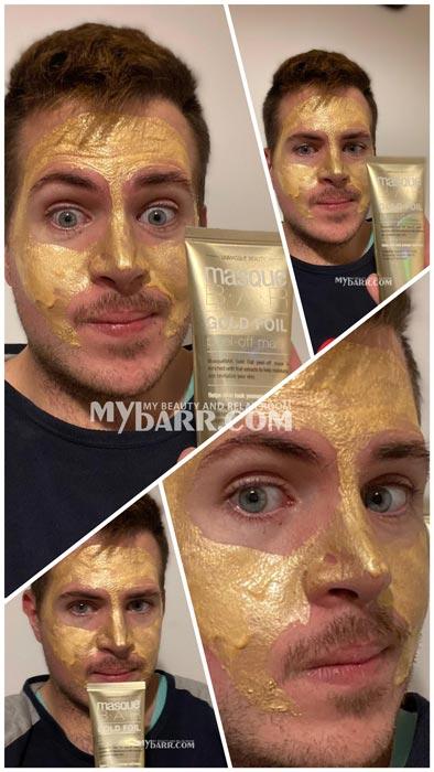 gold foil peel off mask masque bar maschera ovs opinioni
