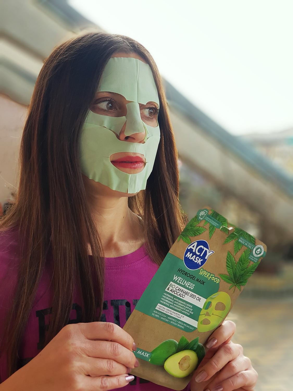 maschera hydrogel Acty Mask Wellness superfood canapa mybarr