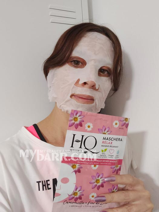 hq ingredients maschera relax tessuto naturale mybarr opinioni
